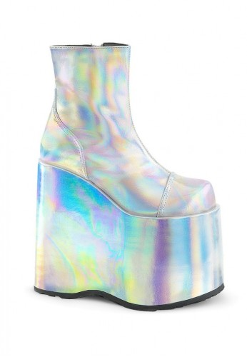 6846f8bc87 ... Slay-204 Hologram Ankle Boots ...
