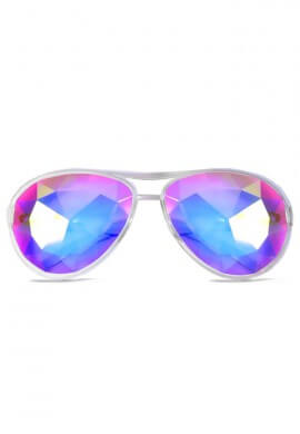 Clear Aviator Kaleidoscope Glasses