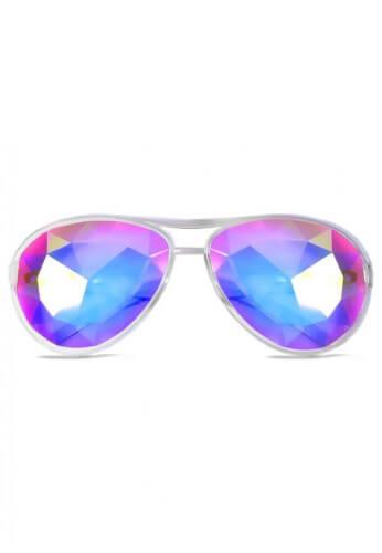 Clear Aviator Kaleidoscope Glasses