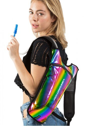GA Holographic Rainbow Hydration Bag