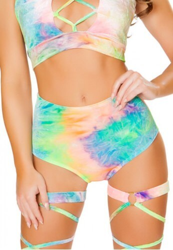 Pastel Rainbow High Waisted Shorts
