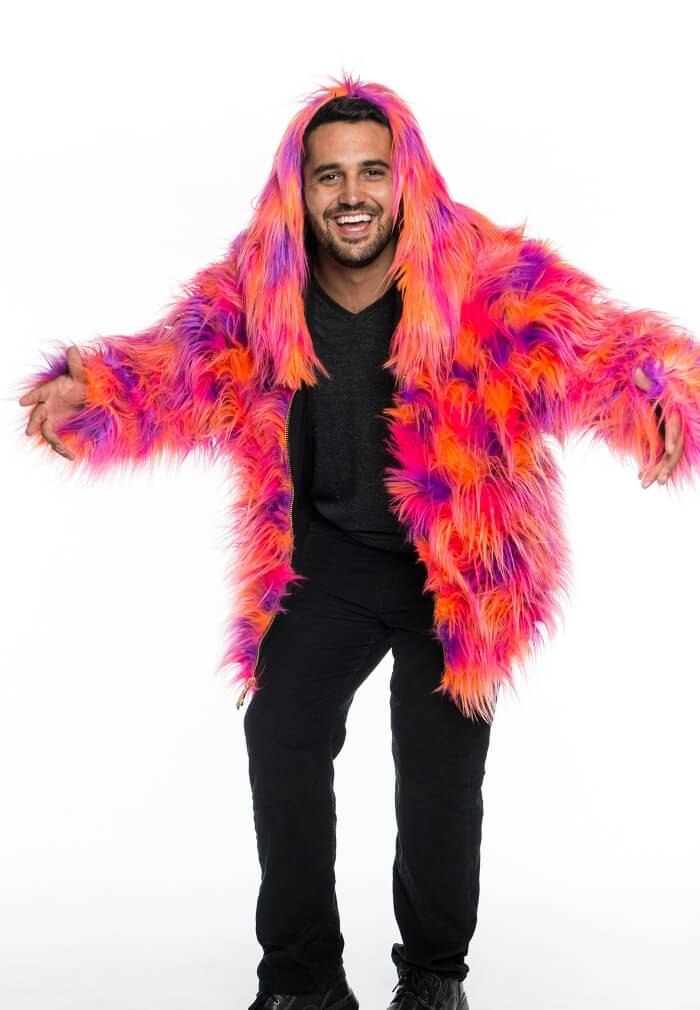 Lorax Faux Fur Coat Bright Furry Jacket From Velu