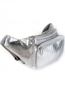 Metallic Silver Fanny Pack