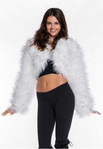 Playaflauge Fur Crop Hoodie