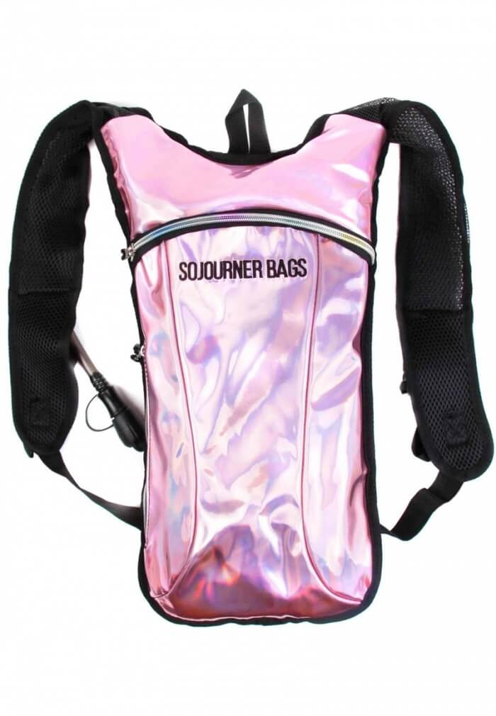 Holographic Pink Hydration Pack Light Pink Metallic