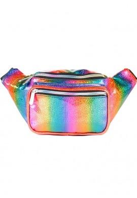 Glitter Rainbow Fanny Pack