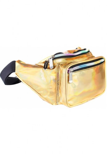 Holographic Gold Fanny Pack
