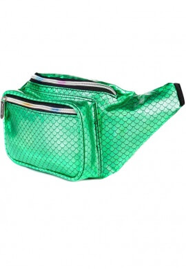 Metallic Green Mermaid Fanny Pack