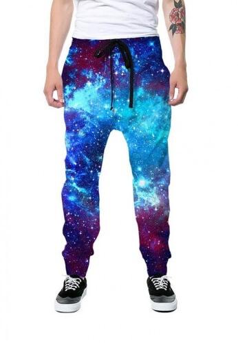 Blue Galaxy Joggers Rave Sweat Pants At Raveready