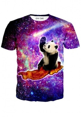 Pandas UFO Bacon T-Shirt
