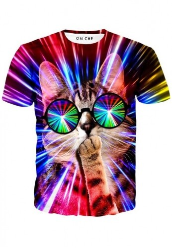 Rave Cat T Shirt