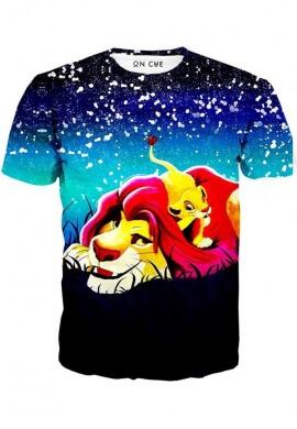 Simba And Mufasa Stars T-Shirt