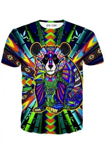 colorful panda t shirt festival shirts from raveready