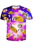 Tacos and Cats Purple T-Shirt