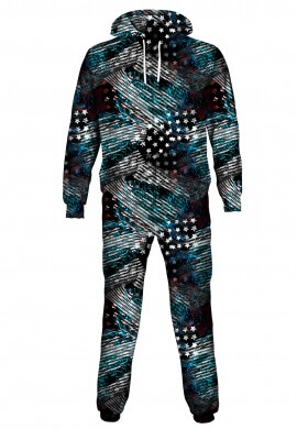 American Abstract Onesie