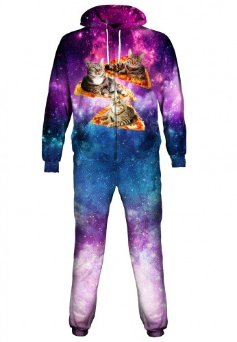 Space Cat Pizza Onesie