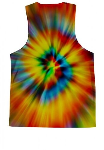 Tie Dye Cat Tank Top