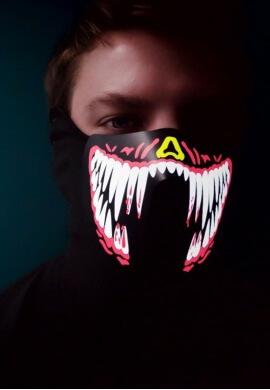 Venom Fangs LED Face Mask