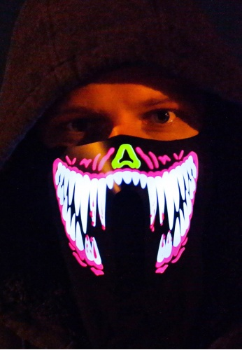 Venom Fangs LED Face Mask