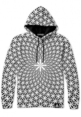 White Flower of Life Hoodie