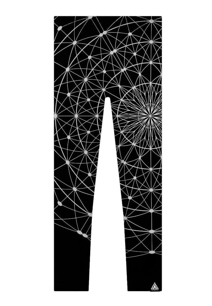 Tree Of Life Matrix Leggings Black Sacred Geometry Yoga