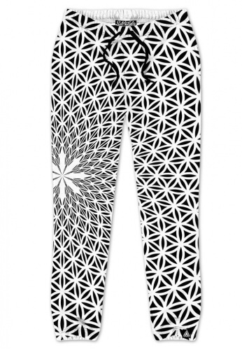 Flower of Life White Joggers