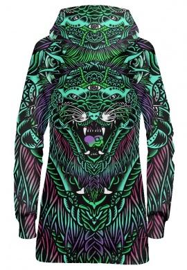Acid Tiger Hoodie Dress