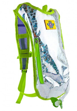 Silver Retro Raver Hydration Pack