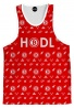 Red Bitcoin HODL Tank Top