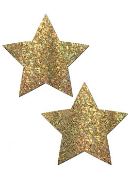 Glitter Gold Star Pasties