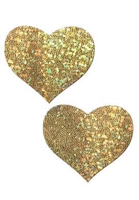 Gold Glitter Heart Pastease