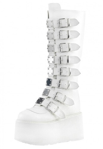 Demonia White Damned-318 Boots