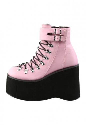 Demonia Pink Kera-21 Boots