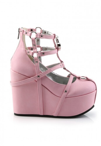 Demonia Pink Poison Wedge