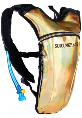 Holographic Gold Hydration Bag