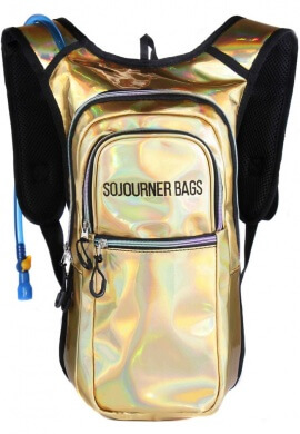 Holographic Gold Medium Hydration Bag