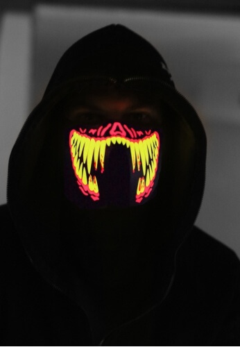 Red Fangs Light Up Mask