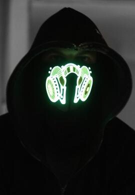 Gas Mask LED Bandanna