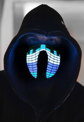 Blue Chill Light Up Mask