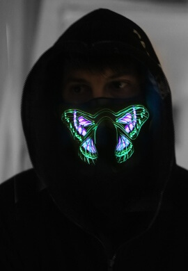Butterfly Effect Light Up Mask
