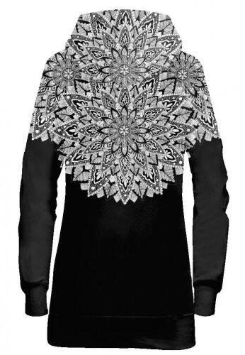 Floramandala Hoodie Dress