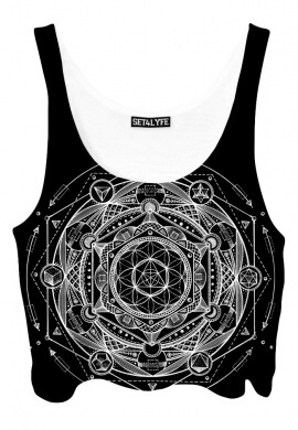 Esoteric Dark Crop Top