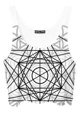 Metatrons Cube Crop Top