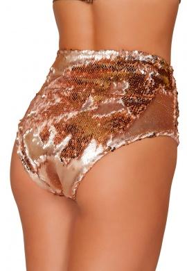 Rose Gold Sequin High Waist Shorts
