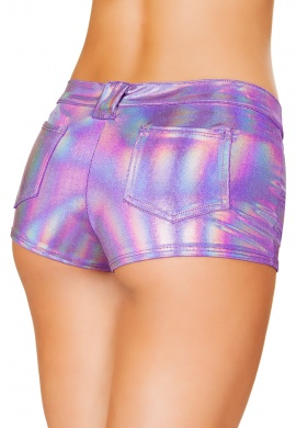 Lavender Shorts with Back Pockets