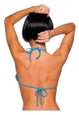 Turquoise Ruffled Bikini Top