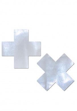 Hologram White Criss Cross Pasties