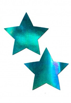 Iridescent Blue Star Pasties