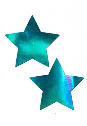 Iridescent Blue Star Pasties