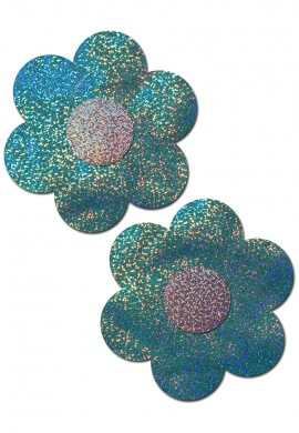 Holographic Seafoam Daisy Pasties